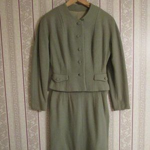 Vintage Green Women's Skirt Suit Union Made